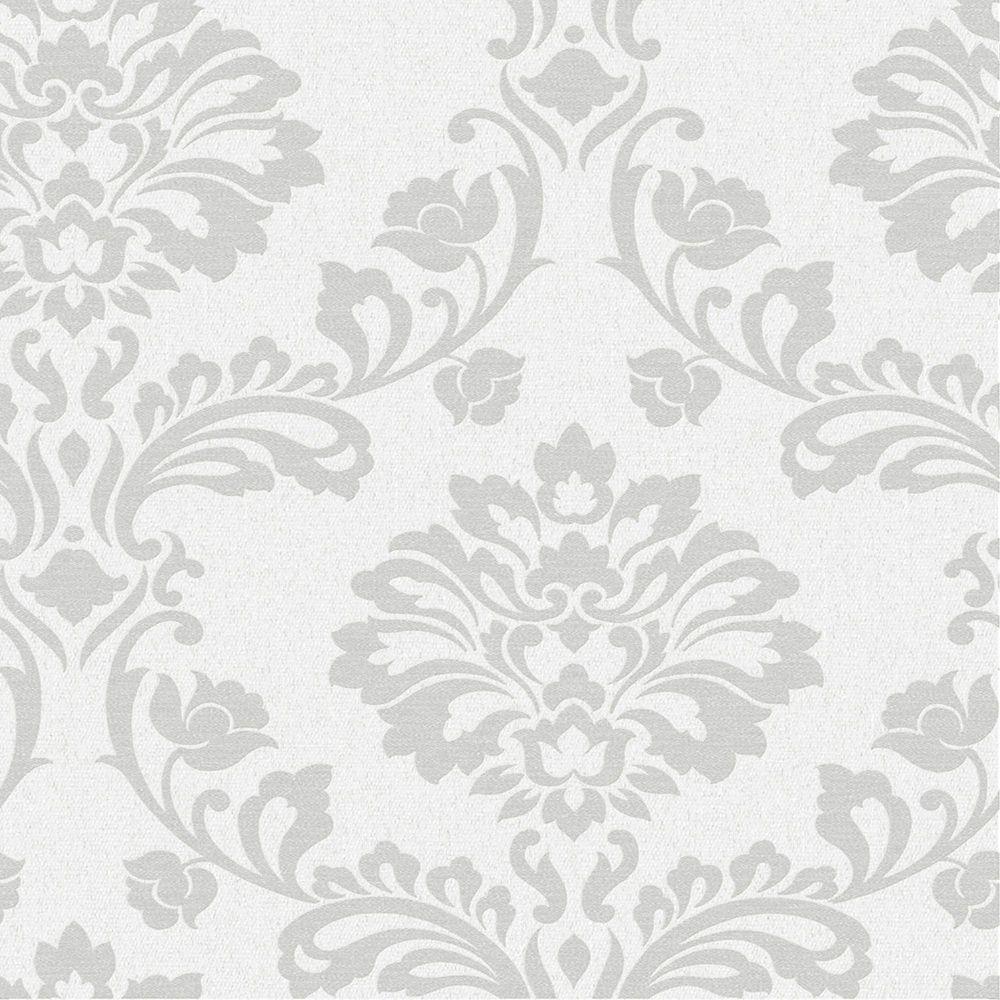 Aurora White/Silver Midas Wallpaper