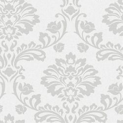 Graham & Brown Aurora White/Silver Wallpaper