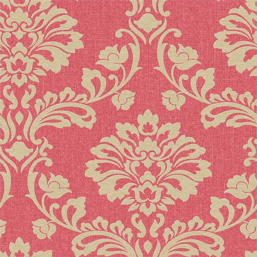 Aurore Papier Peint Rouge/Or