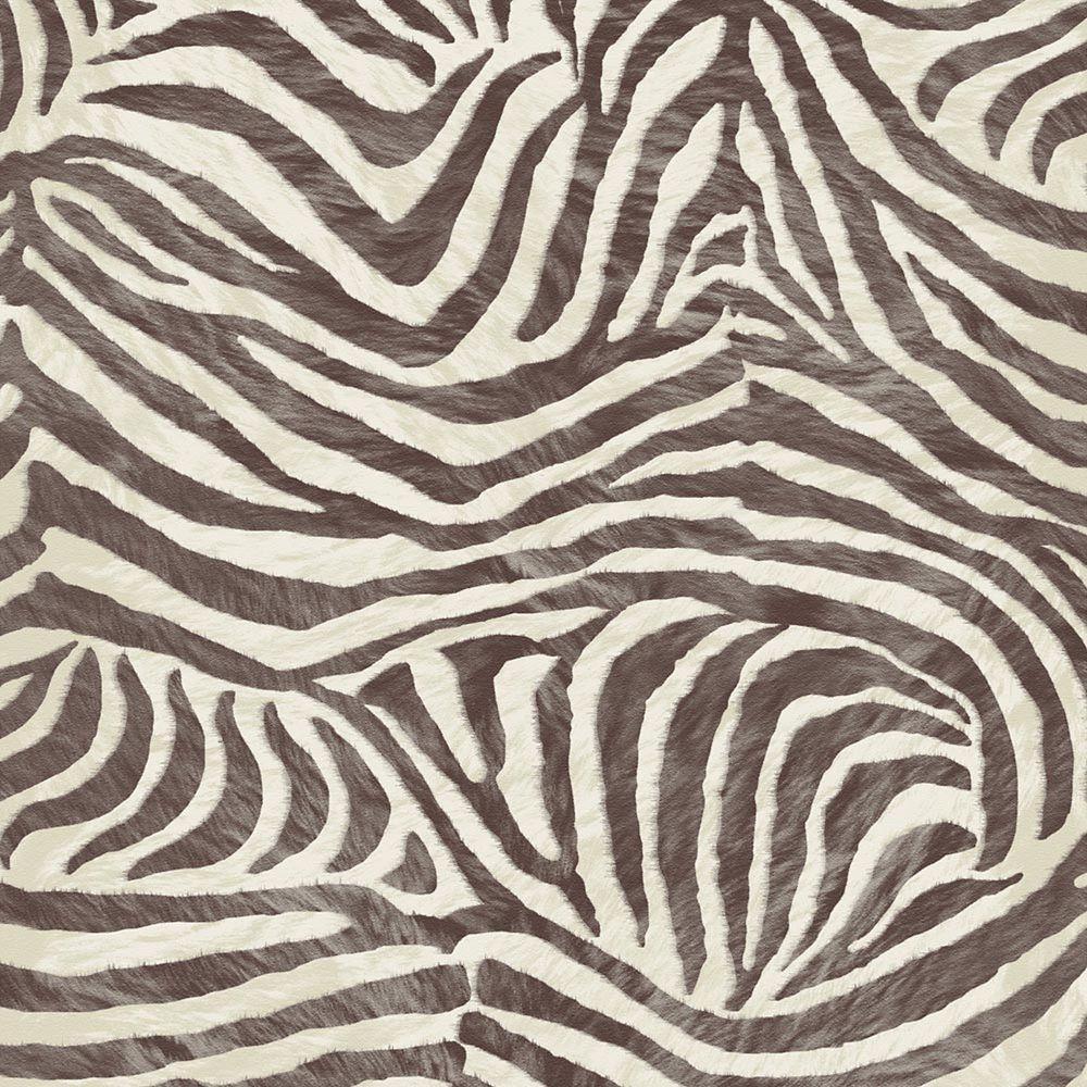 Zebra Brown/Beige Skin Wallpaper