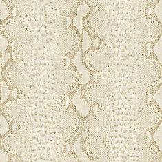 Graham Brown Serpent Papier Peint Blanc Or Home Depot Canada