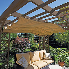 12-inch x 12-inch Retractable Sunshade in Taupe
