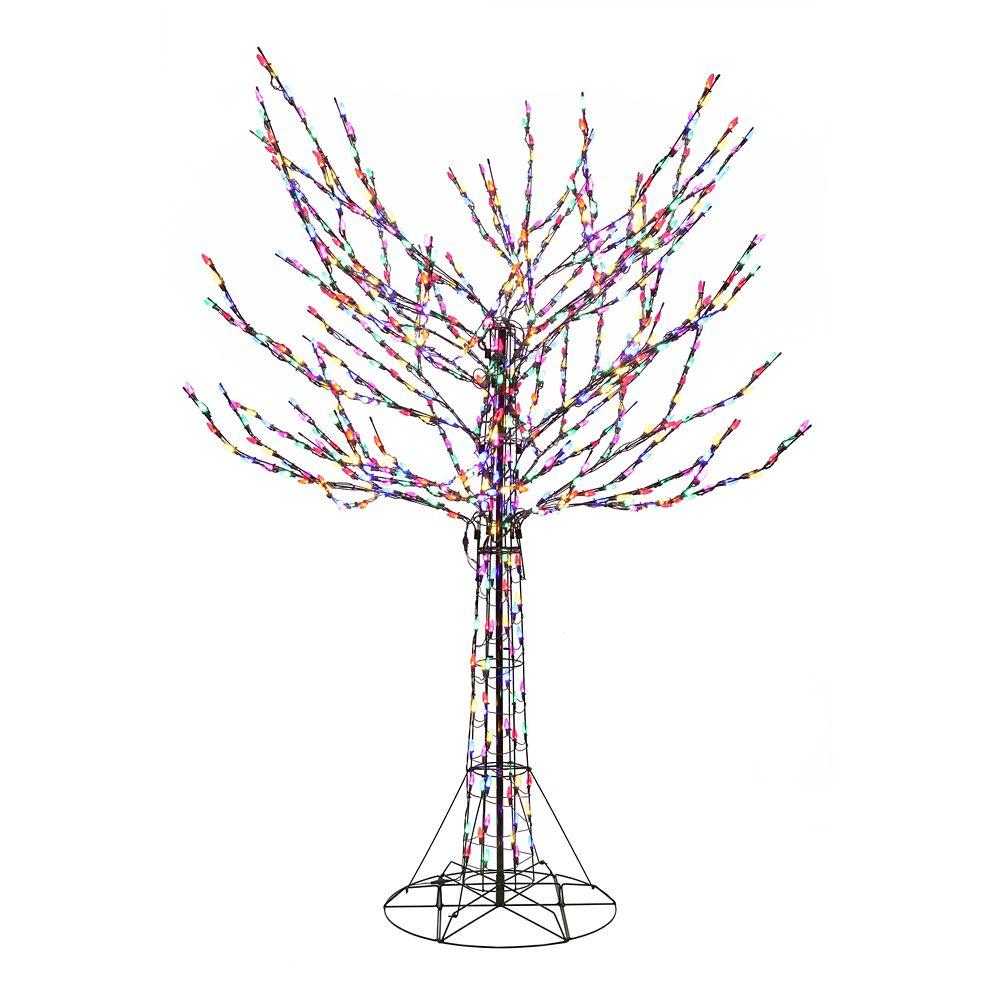 Arbre de Branches Nues de 2,5m Avec Lumières Multicolores