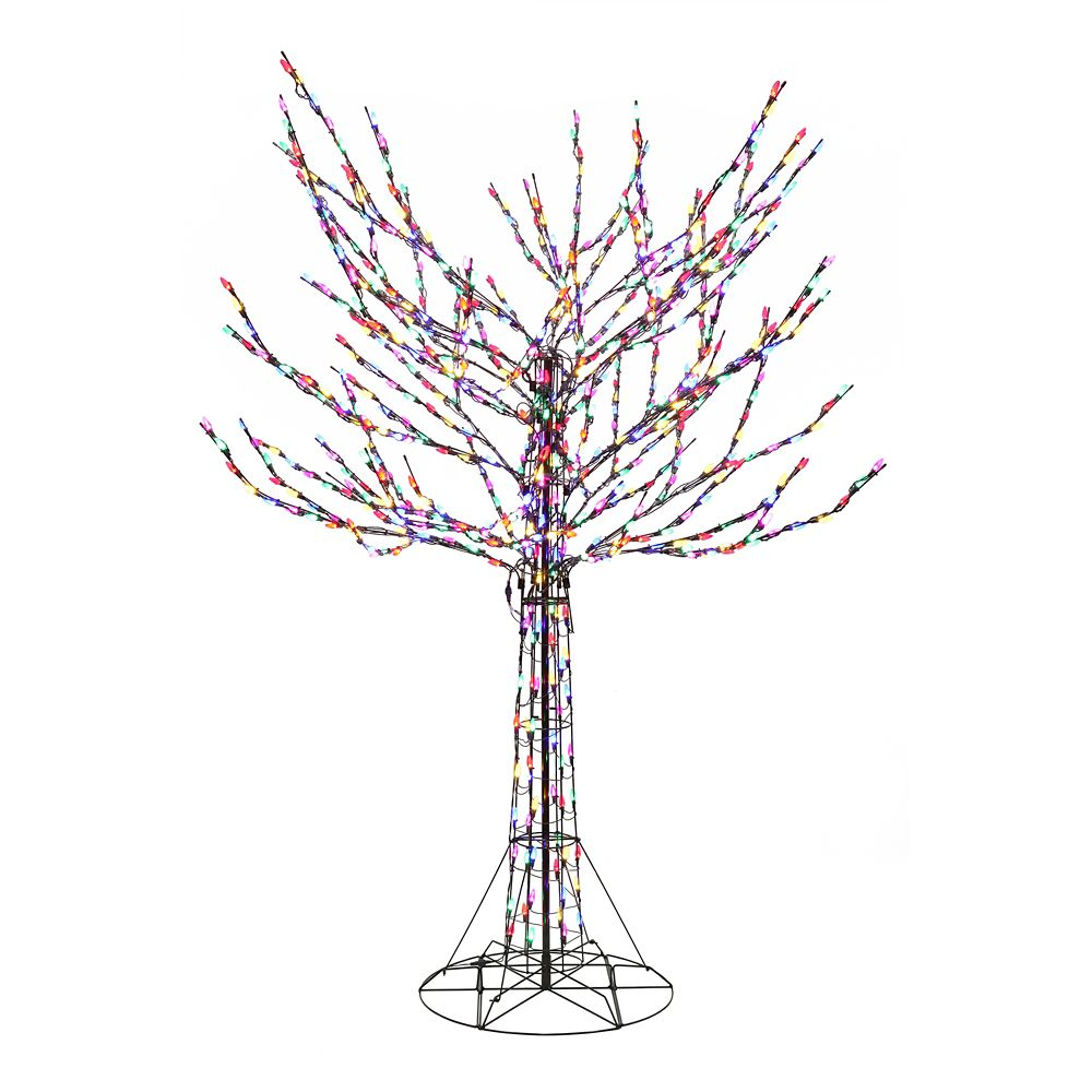 8 Feet Bare Branch Tree With Multi Colored Lights