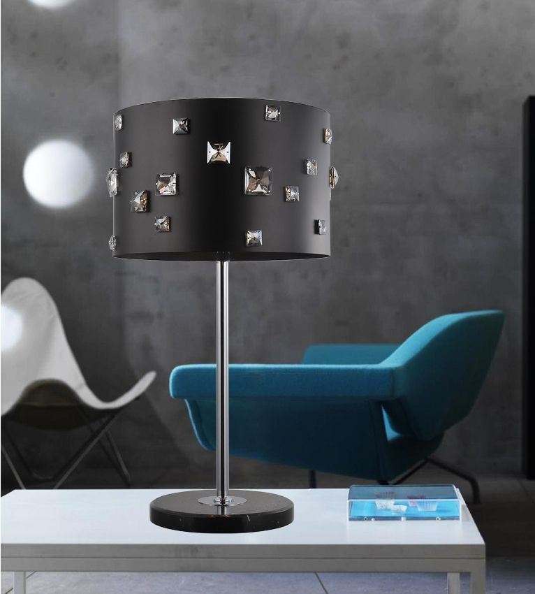 4 Light Table Lamp With Black Finish