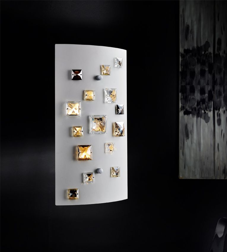2 Light Wall Sconce With White Finish