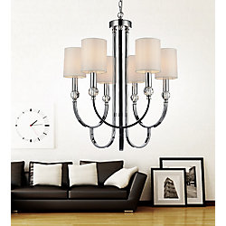 CWI Lighting 6 Light Chandelier With Chrome Finish