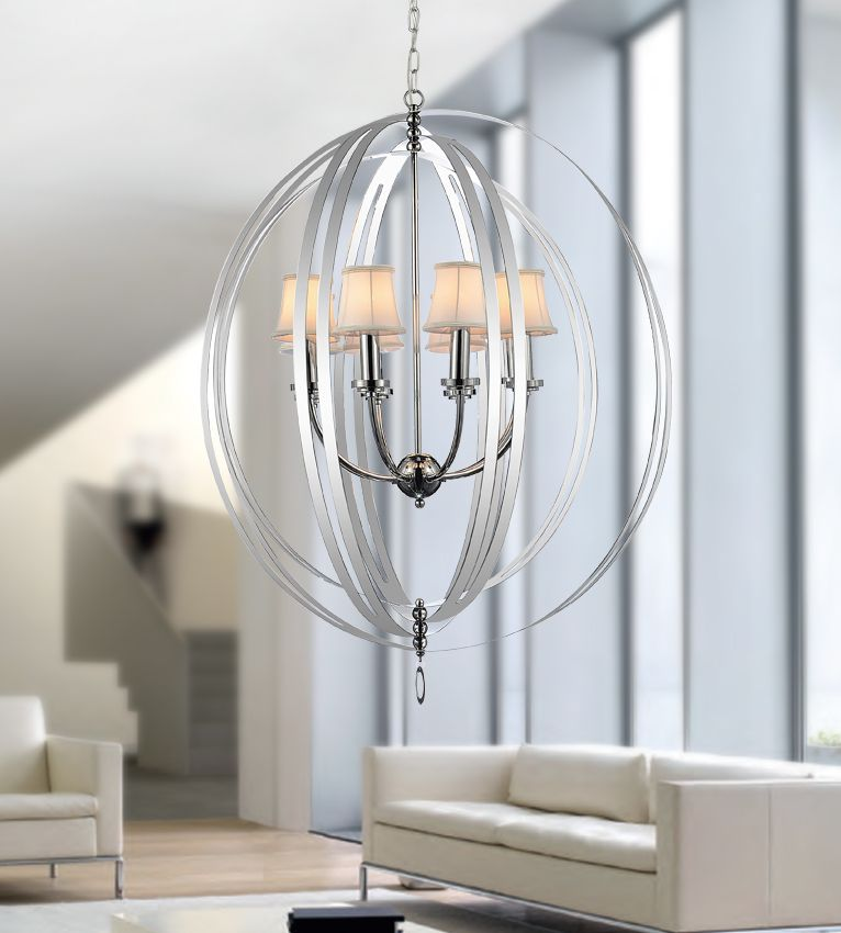 5 Light Chandelier With Chrome Finish