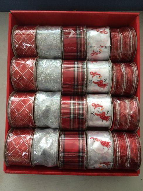 Whimsy Ribbon Red/White
