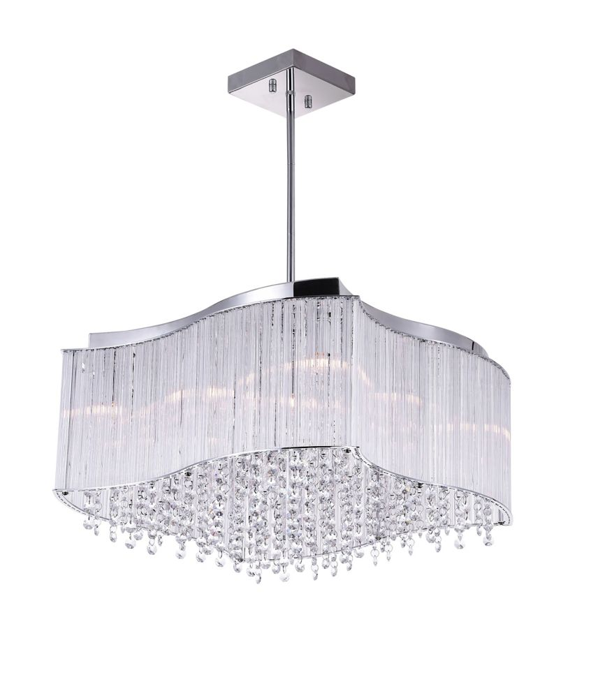 10 Light Chandelier With Clear Crystals