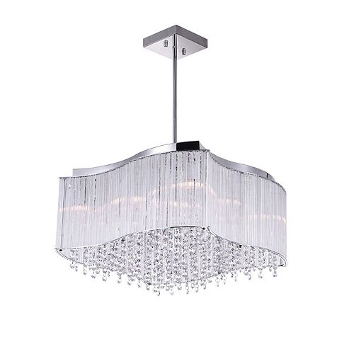 CWI Lighting 10 Light Chandelier With Clear Crystals