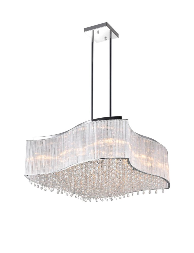 12 Light Chandelier With Clear Crystals