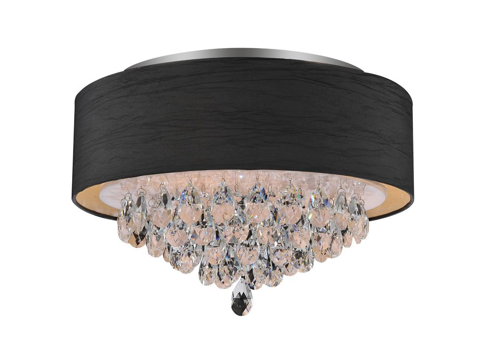 CWI Lighting 4 Light Flush Mount With Black Shade