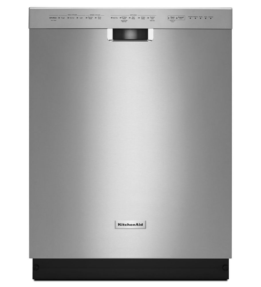 24-inch Dishwasher with Pocket Handle in Stainless Steel
