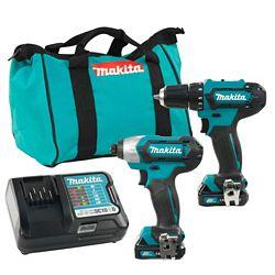 MAKITA 12V MAX CXT 2 Tool Combo Kit