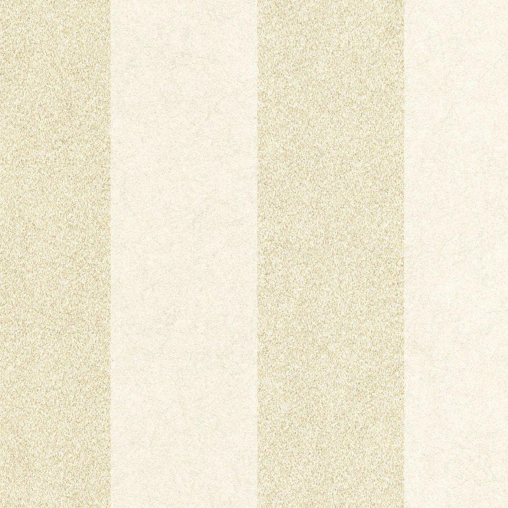 Artisan Stripe Oyster/Gold Wallpaper