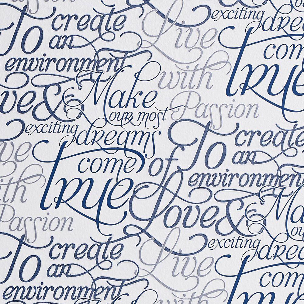 Dreams Come True Blue & White Illusions Wallpaper