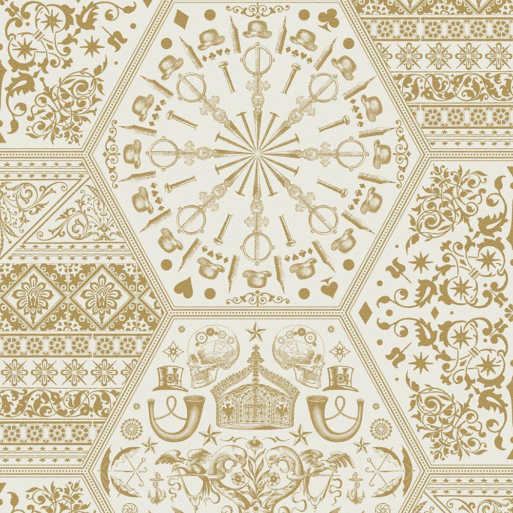Patrimoine du monde Illusions Papier Peint Or