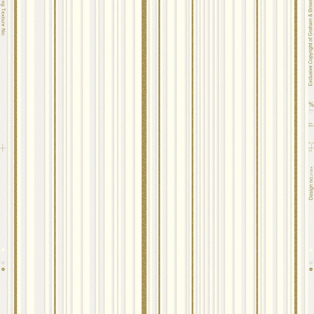 Maestro Stripe  White & Gold Illusions Wallpaper