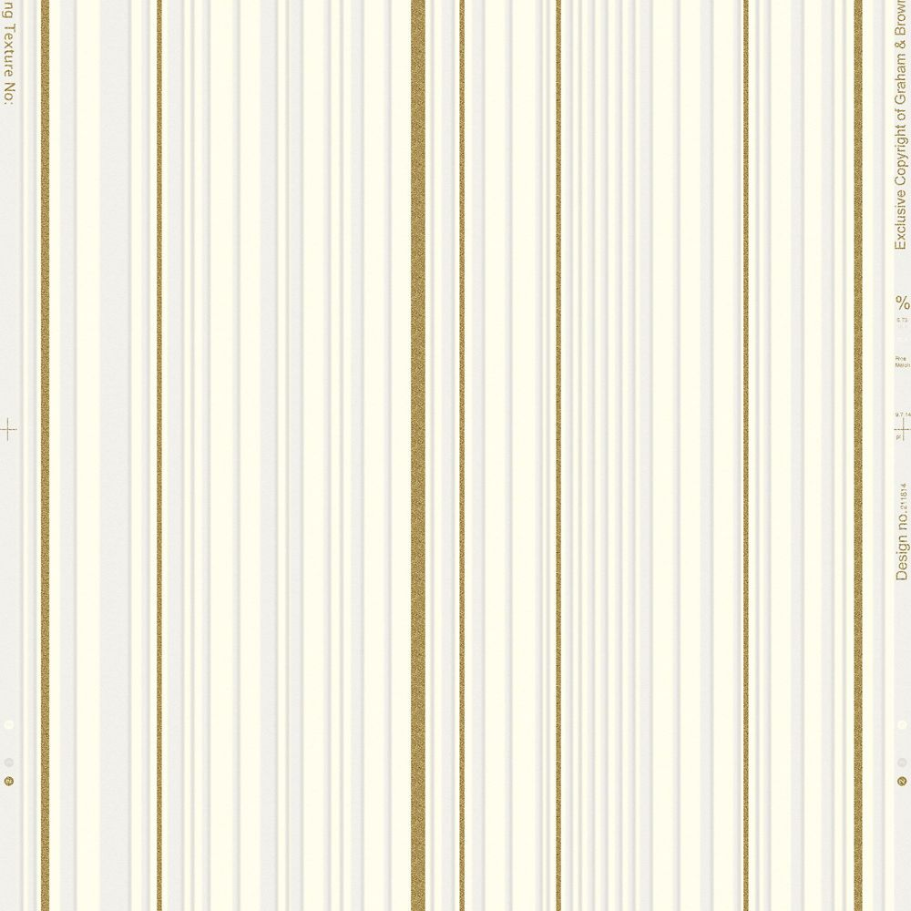 Rayeur maestro Illusions Papier Peint Blanc & Or