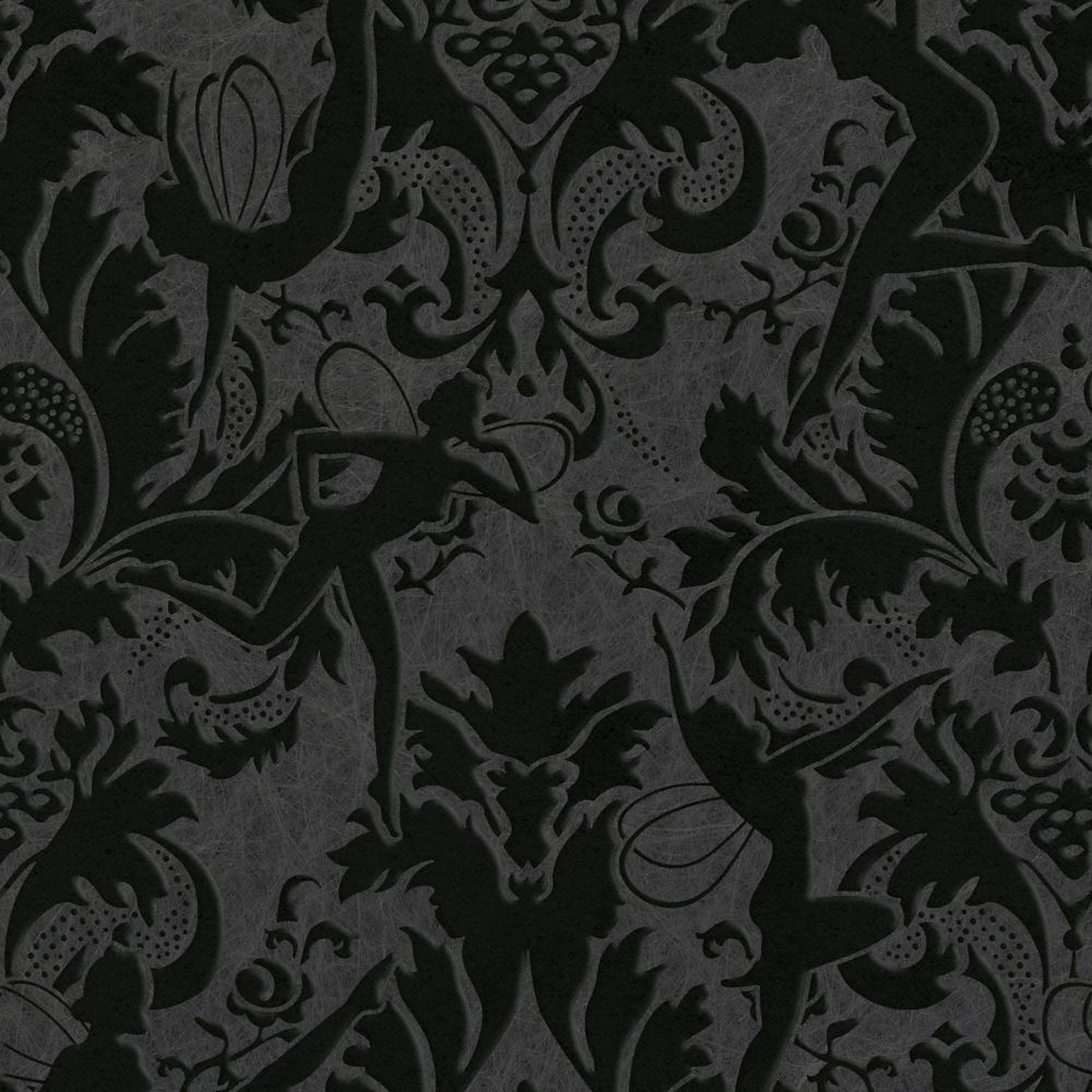Forest Muse Black Illusions Wallpaper