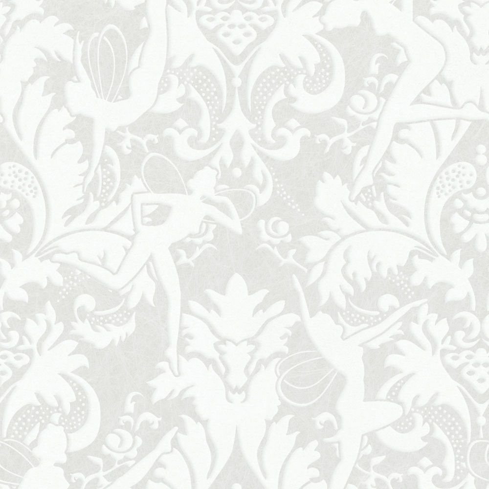 Forest Muse White/Silver Wallpaper