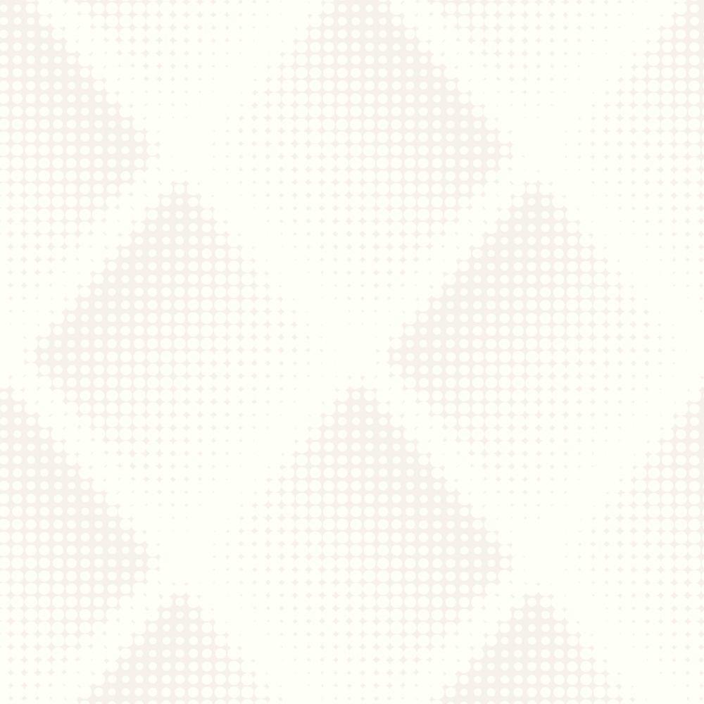 Braille Chester White Illusions Wallpaper