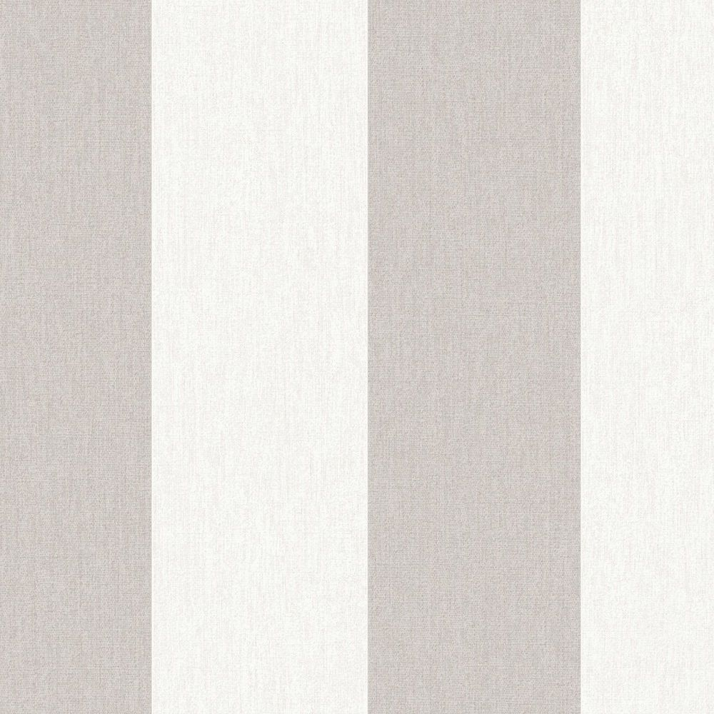 Calico Stripe Natural Innocence Wallpaper