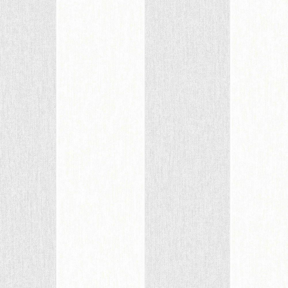 Calicot rayé Innocence Papier Peint Gris