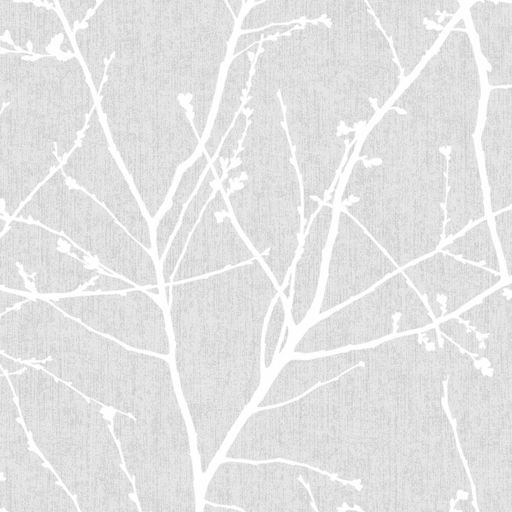 Innocence Grey/White Wallpaper
