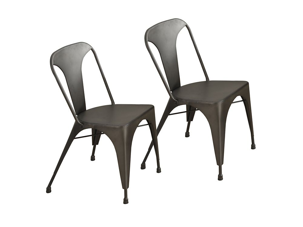 "CHAISE - 2PCS / 33""H CAFE METAL BRONZE"