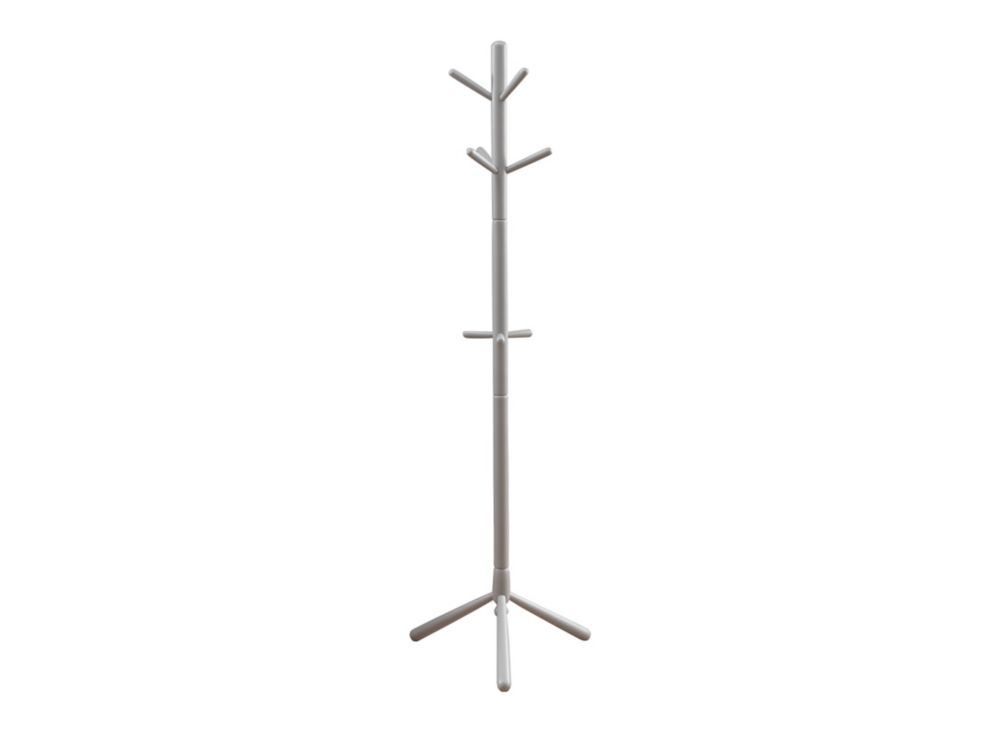 Coat Rack - 69 Inch H / Grey Wood Contemporary  Style