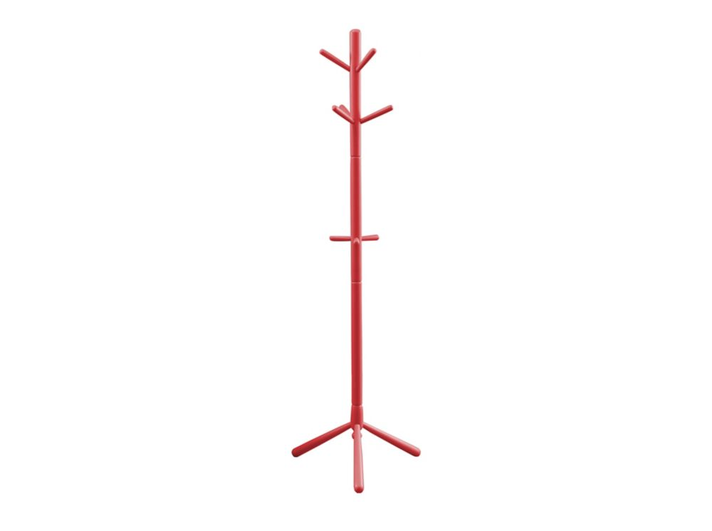 Coat Rack - 69 Inch H / Red Wood Contemporary Style