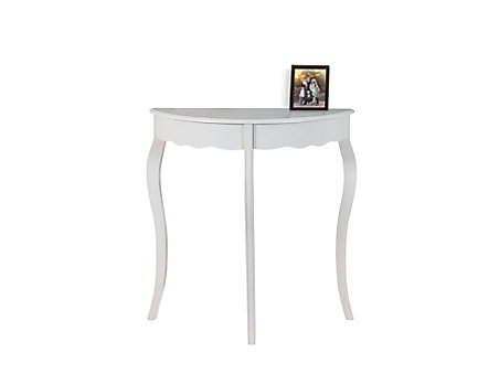 Monarch Specialties Accent Table 31 Inch L Antique White Hall Console The Home Depot Canada