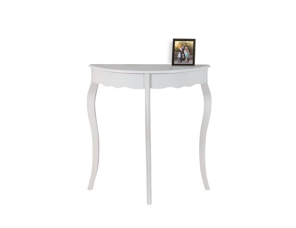 Monarch Specialties Accent Table - 31 Inch L / Antique  White Hall  Console