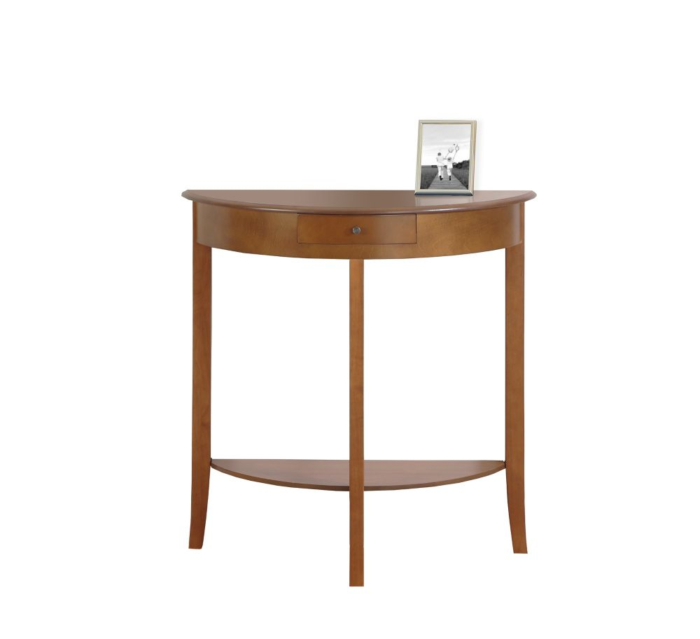 Monarch Specialties Accent Table - 31 Inch L / Oak Hall Console