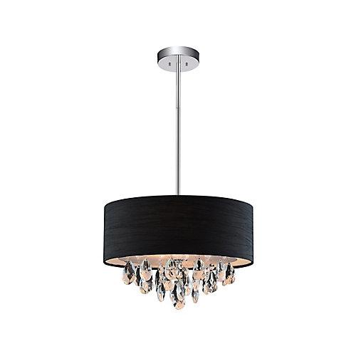3 Light Mini Pendant With Black Shade