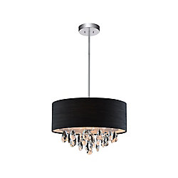 3 Light Mini Pendant With Black Shade