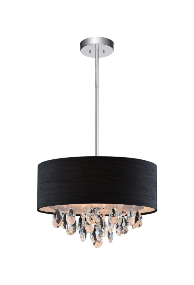 CWI Lighting 3 Light Mini Pendant With Black Shade