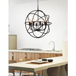 CWI Lighting 6 Light Chandelier With Brown Finish