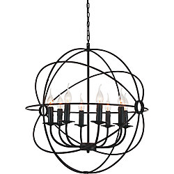 CWI Lighting 8 Light Chandelier With Brown Finish