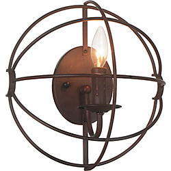 CWI Lighting 1 Light Wall Sconce With  Brown Finish
