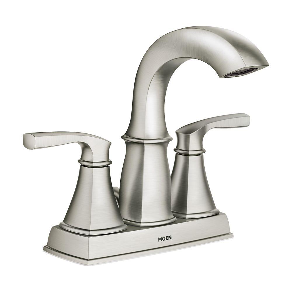 Hensley� - Robinet de salle de bain à 2 poignées - fini nickel brossé Spot Resist<sup>®</sup>