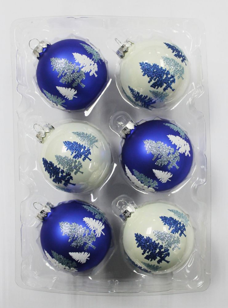 2.5 Inch Rounds Blue Trees (6 Count)