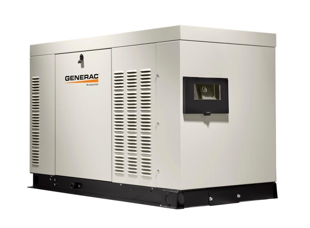 Génératrice de secours automatique monophasée refroidie par liquide,27000watts, enceinte alumin...