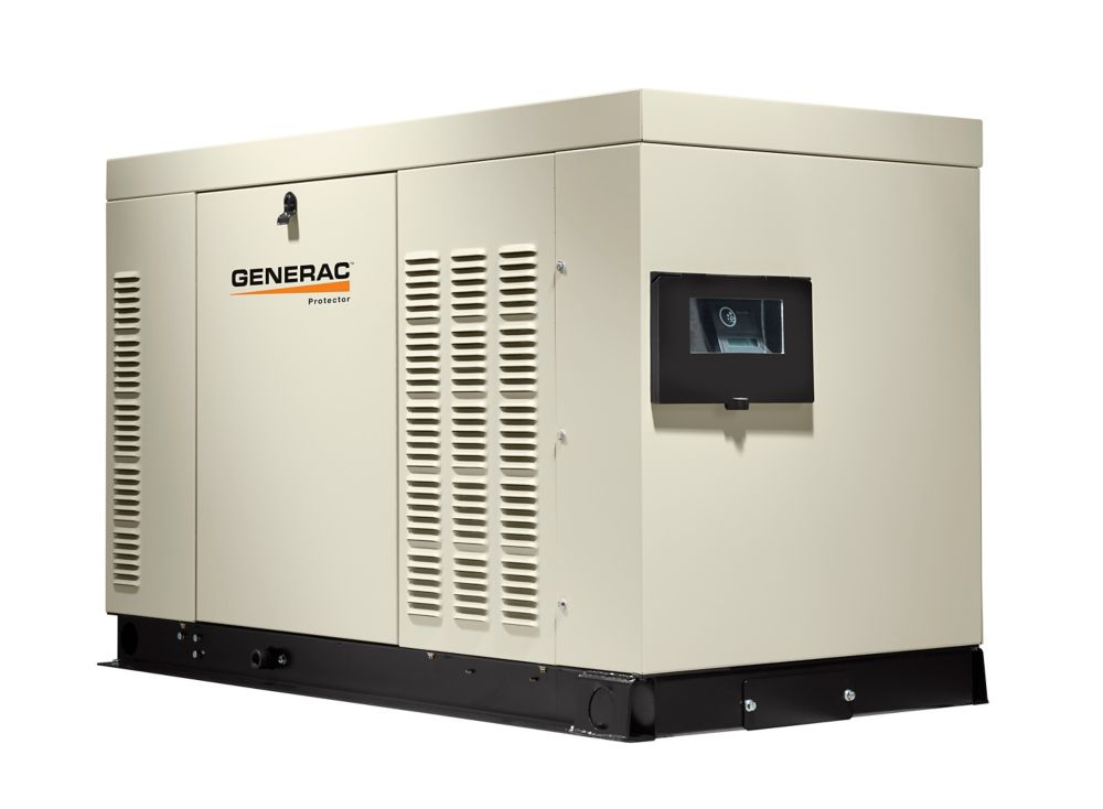 Génératrice de secours automatique monophasée refroidie par liquide, 36000watts,enceinte acier