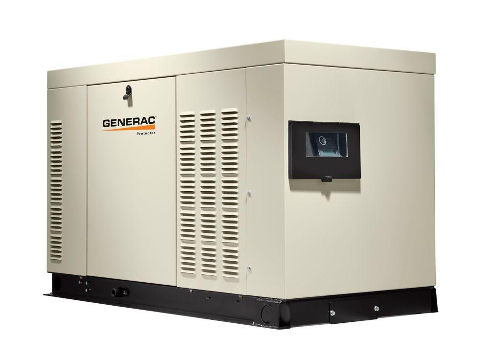 Génératrice de secours automatique triphasée refroidie par liquide, 60000watts,enceinte acier