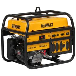 DEWALT 7,200W Gasoline Powered Electric/Manual Start Portable Generator with Honda Engine