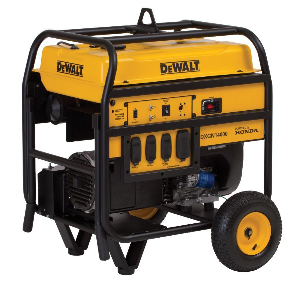 DEWALT 14,000 Watt Portable Generator with Electric Start