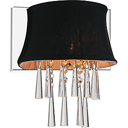 1 Light Wall Sconce With Black Shade